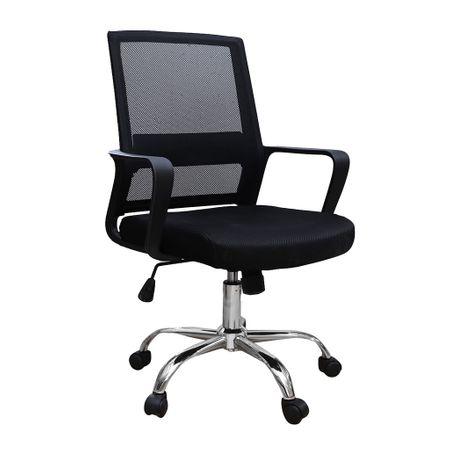 Scaun de birou ergonomic VEKTOR, mesh, negru imagine