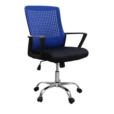 Scaun de birou ergonomic HEXI, mesh, negru albastru imagine