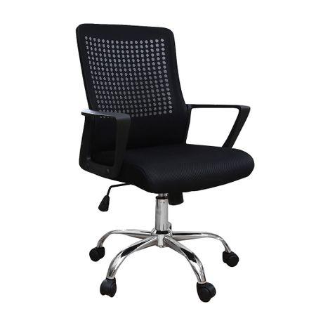 Scaun de birou ergonomic HEXI, mesh, negru imagine