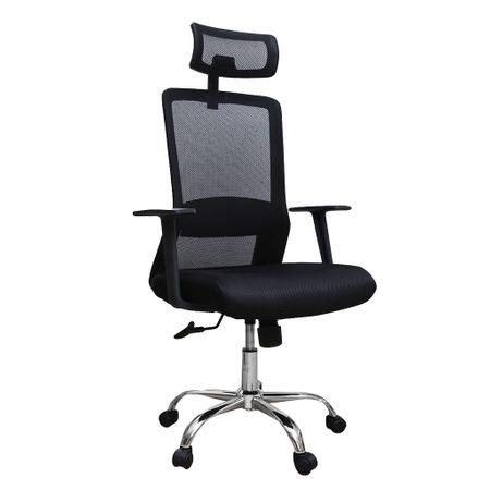 Scaun de birou ergonomic HELSINKI, mesh, negru imagine