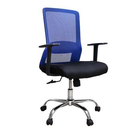Scaun de birou ergonomic EASY, mesh, negru albastru imagine