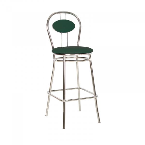 Scaun de bar Wegner Hoker, Verde inchis piele ecologica imagine