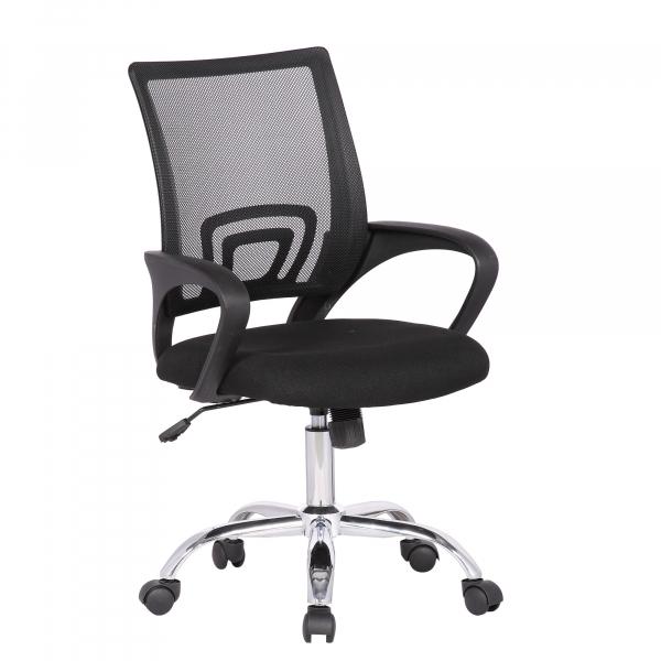 Scaun de birou ergonomic TEXO, Negru, Mesh Textil imagine