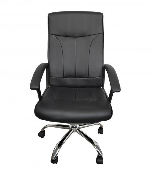 Scaun de birou ergonomic VITO, PU, Negru imagine