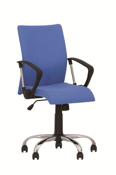 Scaun de birou NEO GTP CHROME, Albastru deschis stofa fiji imagine
