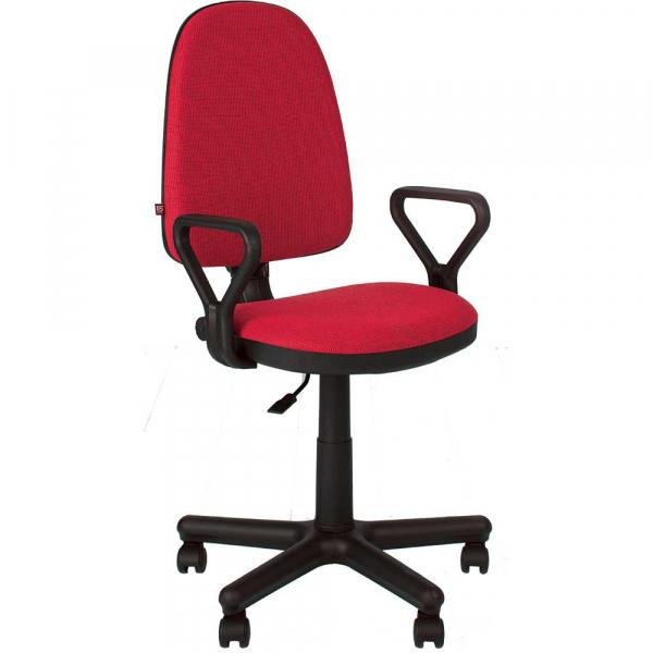 Scaun de birou PRIVILEGE GTP, Rosu-negru stofa cagliari imagine