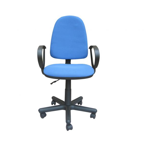 Scaun de birou SATURN GTP, Albastru deschis stofa fiji imagine