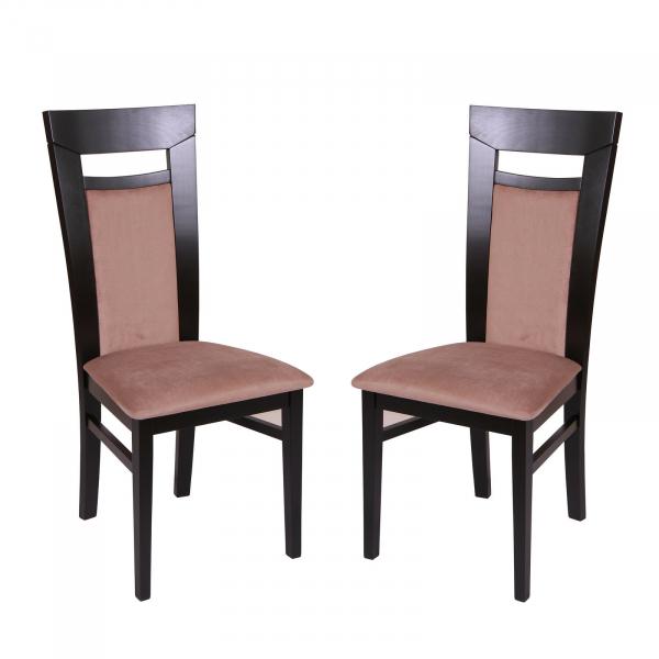 Set 2 scaune Amalfi, Lemn, Wenge Aya nougat imagine