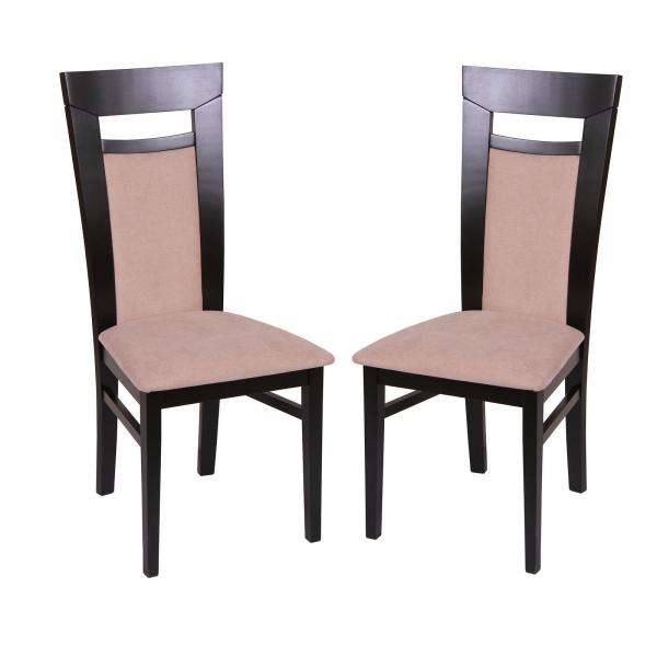 Set 2 scaune Amalfi, Lemn, Wenge Misty beige imagine