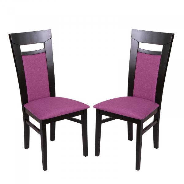 Set 2 scaune Amalfi, Lemn, Wenge Savannah lilac imagine