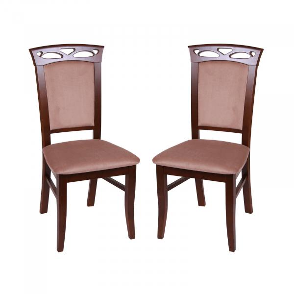 Set 2 scaune Fiona, Lemn, Nut Aya Nougat imagine