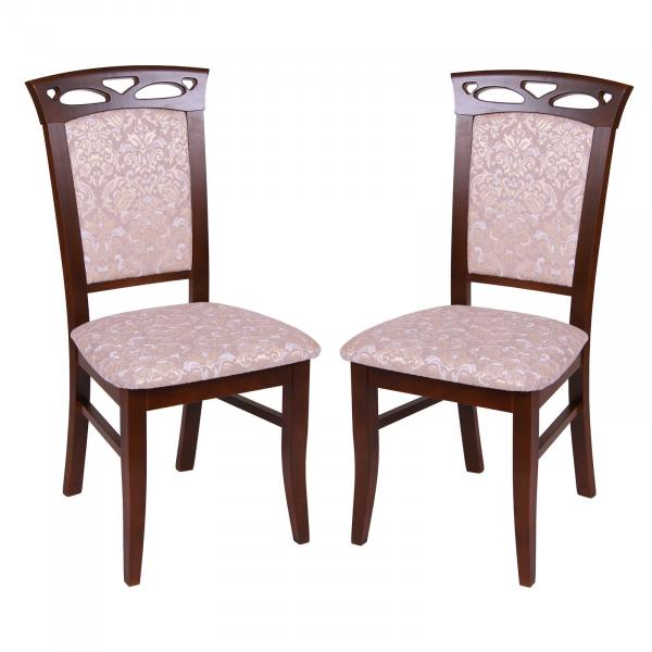 Set 2 scaune Fiona, Lemn, Nut Regent 03 imagine