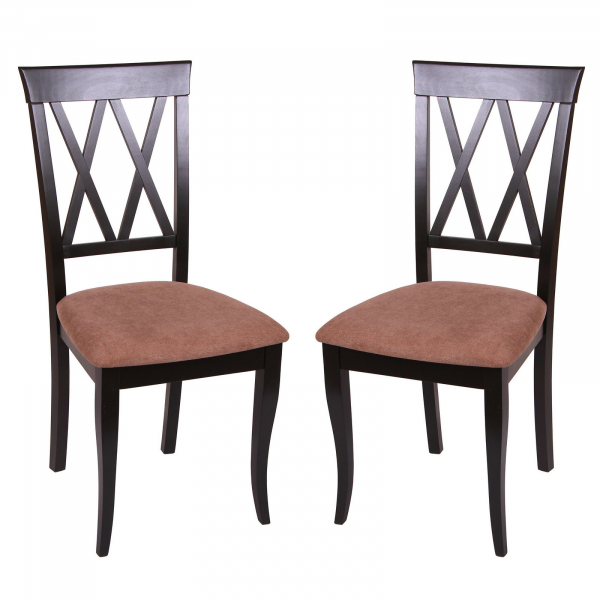 Set 2 scaune Milano, Lemn, Wenge Misty light brown imagine