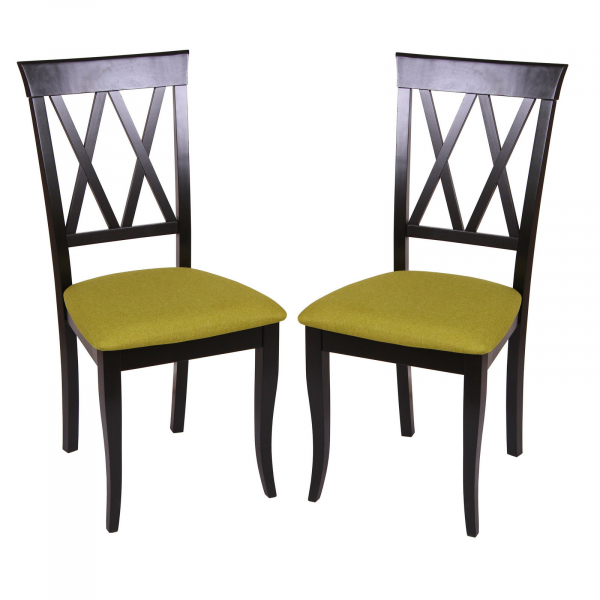 Set 2 scaune Milano, Lemn, Wenge Savannah olive imagine