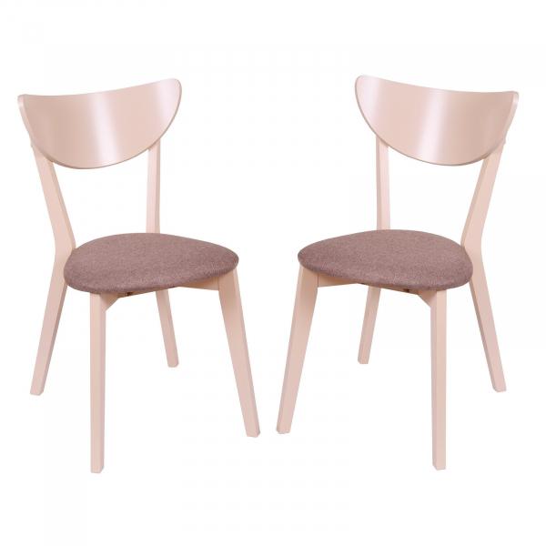 Set 2 scaune NEO, Lemn, Beige Veles 6 imagine