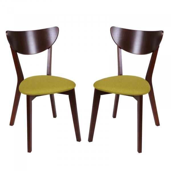 Set 2 scaune NEO, Lemn, Nut Savannah olive imagine
