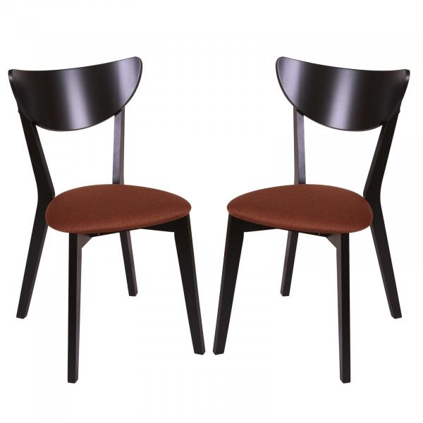 Set 2 scaune NEO, Lemn, Wenge Bonus New Brown imagine