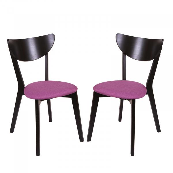 Set 2 scaune NEO, Lemn, Wenge Savannah lilac imagine