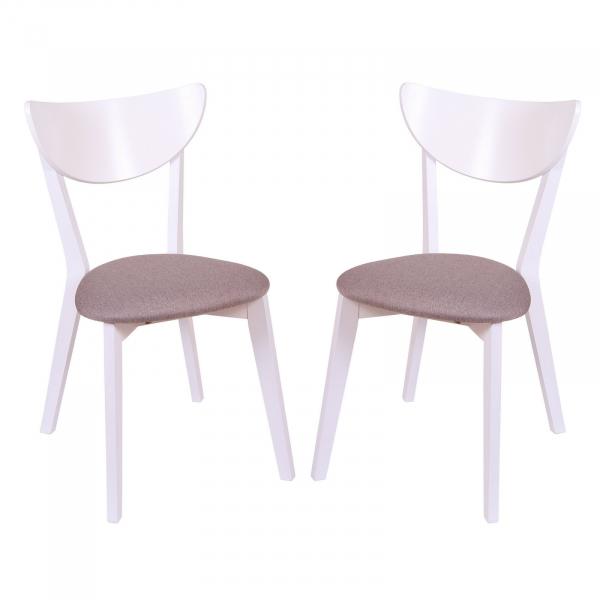 Set 2 scaune NEO, Lemn, White Bonus New Cappucino imagine