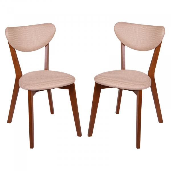 Set 2 scaune Neo M, Lemn, Walnut Brighton Beige imagine