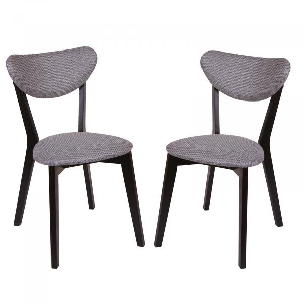 Set 2 scaune Neo M, Lemn, Wenge Brighton Gray imagine