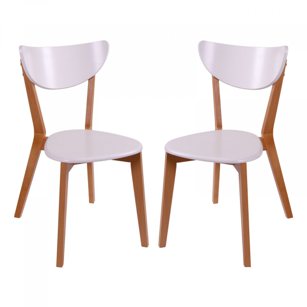 Set 2 scaune Neo T, Lemn, Beech White imagine