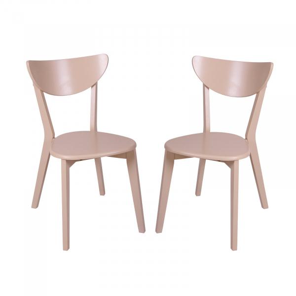 Set 2 scaune Neo T, Lemn, Beige imagine