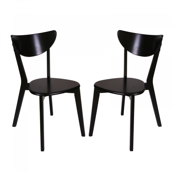 Set 2 scaune Neo T, Lemn, Wenge imagine