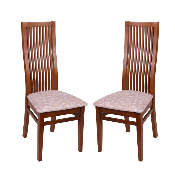 Set 2 scaune Puerto, Lemn, Walnut Regent 03 imagine