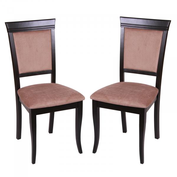 Set 2 scaune ROMA, Lemn, Wenge Aya nougat imagine