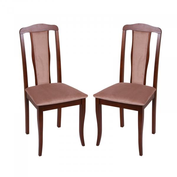 Set 2 scaune San Marino, Lemn, Nut Aya nougat imagine