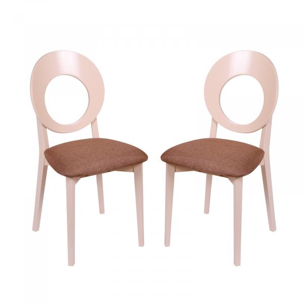 Set 2 scaune Star, Lemn, Beige Veles 15 imagine