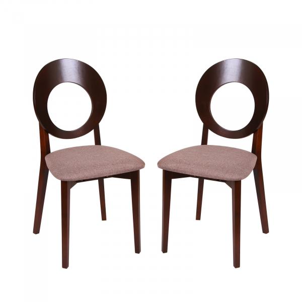 Set 2 scaune Star, Lemn, Nut Veles 6 imagine