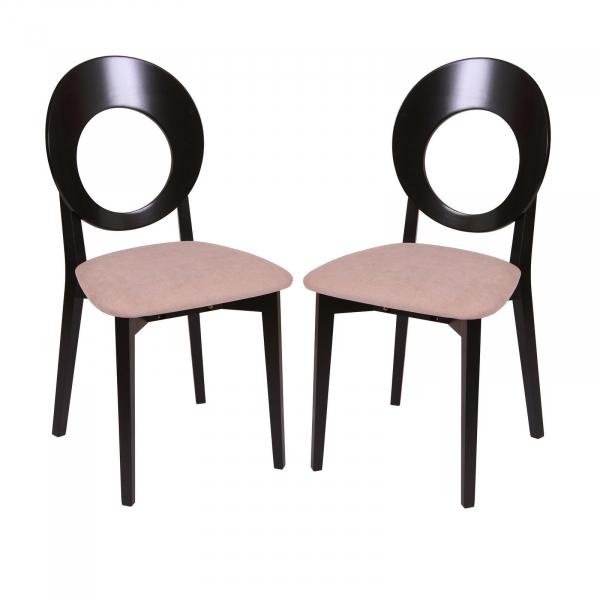 Set 2 scaune Star, Lemn, Wenge Misty Beige imagine
