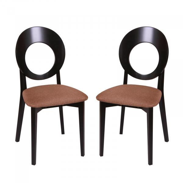 Set 2 scaune Star, Lemn, Wenge Veles 15 imagine