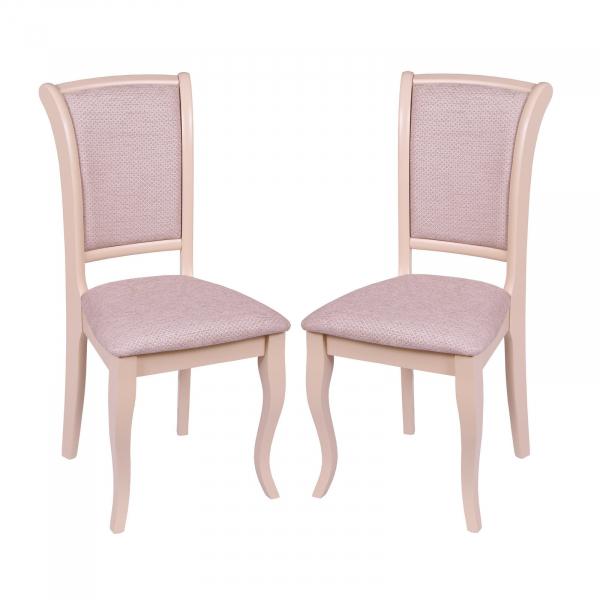 Set 2 scaune UNO, Lemn, Beige Regent plain 03 imagine