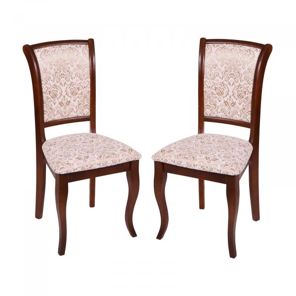Set 2 scaune UNO, Lemn, Nut Regent 02 imagine