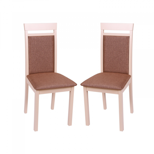 Set 2 scaune Wooden 2, Lemn, Beige Veles 15 imagine