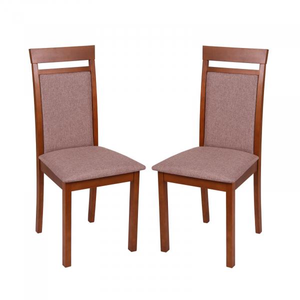 Set 2 scaune Wooden 2, Lemn, Walnut Veles 6 imagine