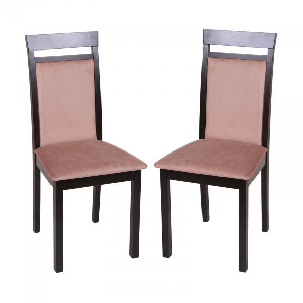 Set 2 scaune Wooden 2, Lemn, Wenge Aya Nougat imagine