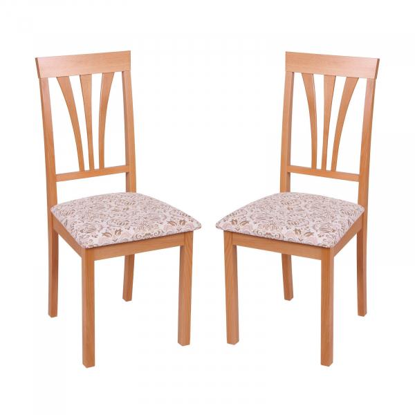 Set 2 scaune Wooden 7, Lemn, Beech Regent 02 imagine
