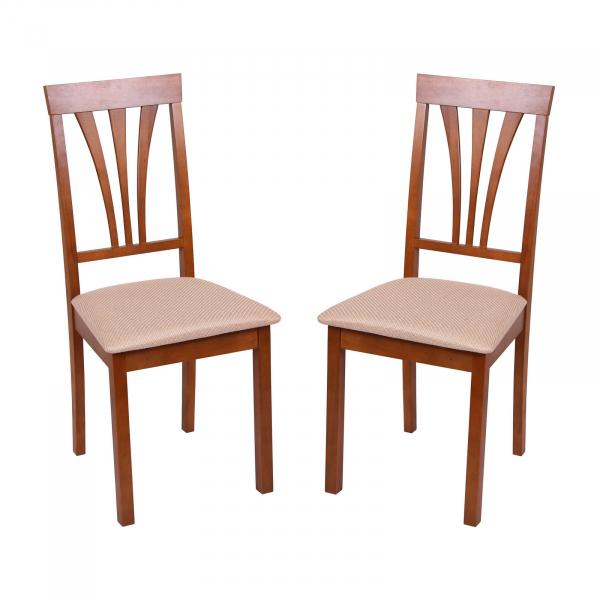 Set 2 scaune Wooden 7, Lemn, Walnut Brighton Beige imagine