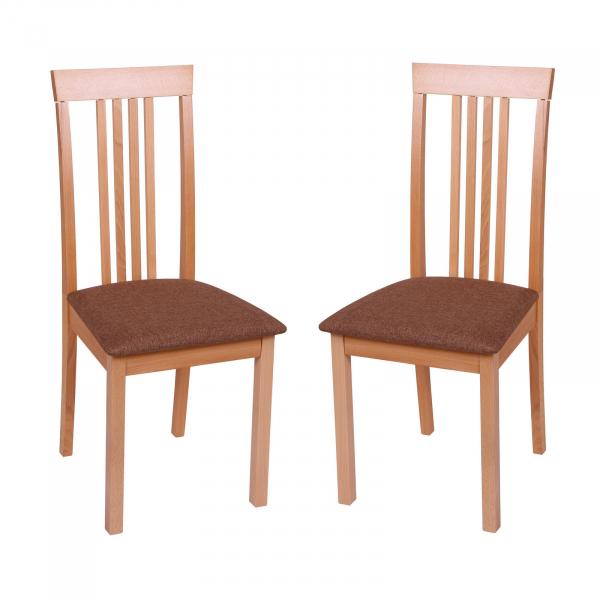 Set 2 scaune Wooden, Lemn, Beech Savannah Gold Browm imagine