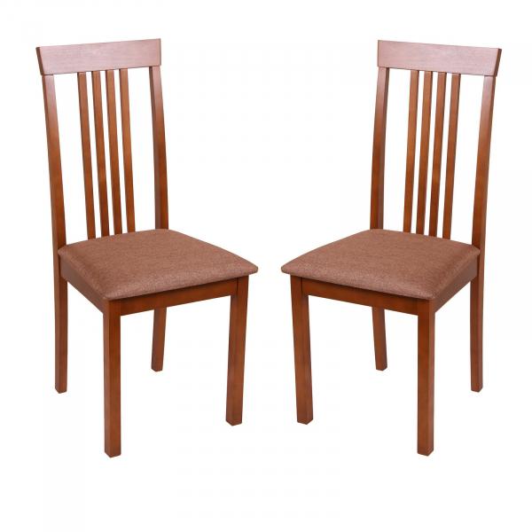 Set 2 scaune Wooden, Lemn, Walnut Veles 15 imagine