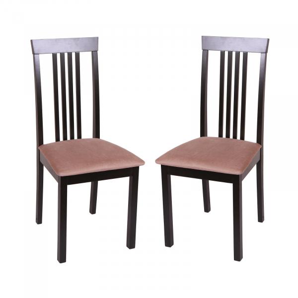 Set 2 scaune Wooden, Lemn, Wenge Aya Nougat imagine