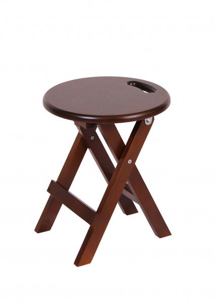 Set 2 taburete Clever, Lemn, Nut imagine