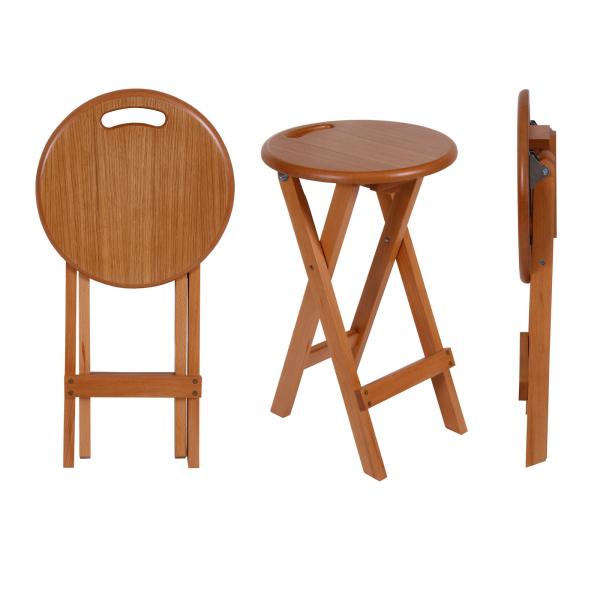 Set 2 taburete pliabile Clever L, Lemn, Beech imagine