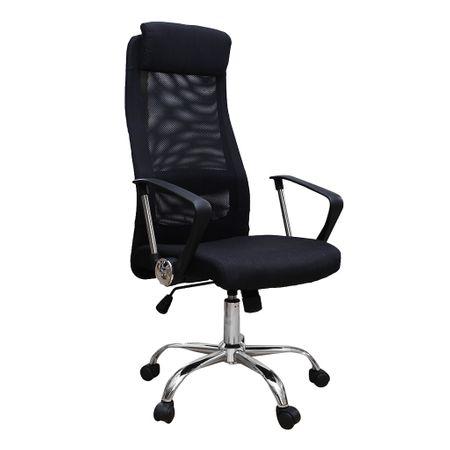 Scaun de birou ergonomic HERTZ, mesh textil, negru imagine